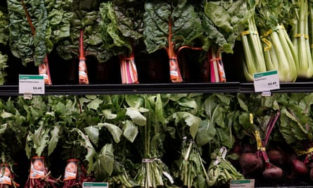 Leafy greens for sale at a Whole Foods Market. The health food brand was launched in the late 1970s and now had more than 450 stores around the world.