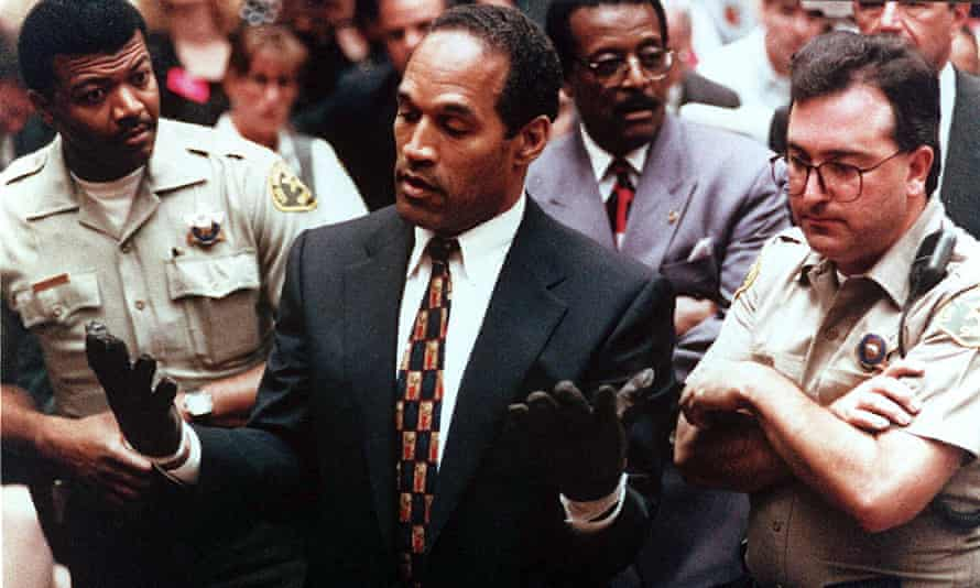 'If it doesn't fit you must acquit' ... OJ Simpson trying on a pair of gloves in court has become an enduring moment in pop culture.