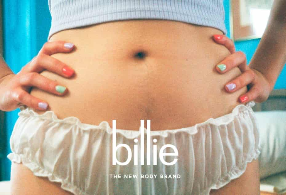 Billie brands itself as 'selling razors for womankind.'