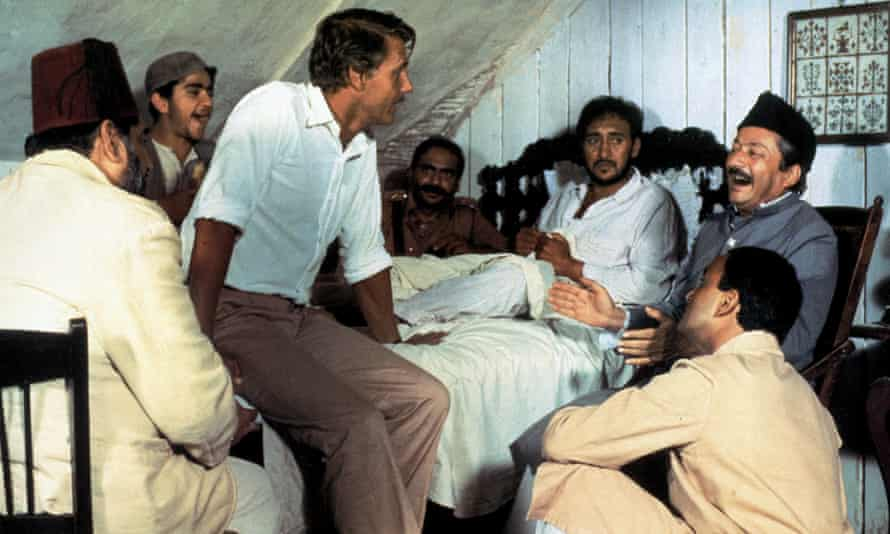 James Fox with Victor Banerjee and Saeed Jaffrey in A Passage To India