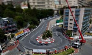 Lewis Hamilton during first practice of the Grand Prix at the Circuit de Monaco, Monaco