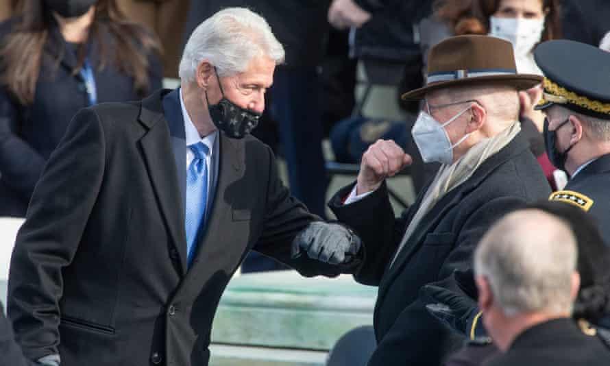 Bill Clinton at Joe Biden's inauguration.