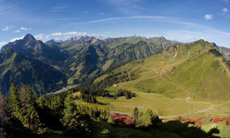 Kleinwalsertal region of Austria