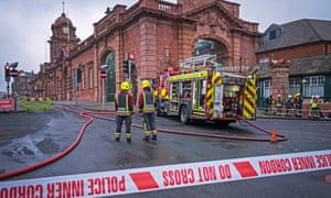 About 60 firefighters tackled the blaze in Nottingham city centre.