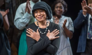 Author Alice Walker on Broadway in New York.
