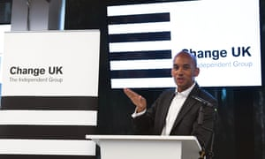 Chuka Umunna at a rally in Manchester before the European elections