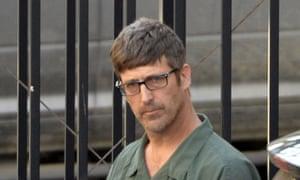 White supremacist Glendon Scott Crawford leaves court in 2013 in Albany, New York.