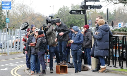 Filming in Salisbury for the BBC2 drama