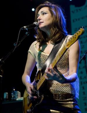 Viv Albertine in concert in Edinburgh in 2011.