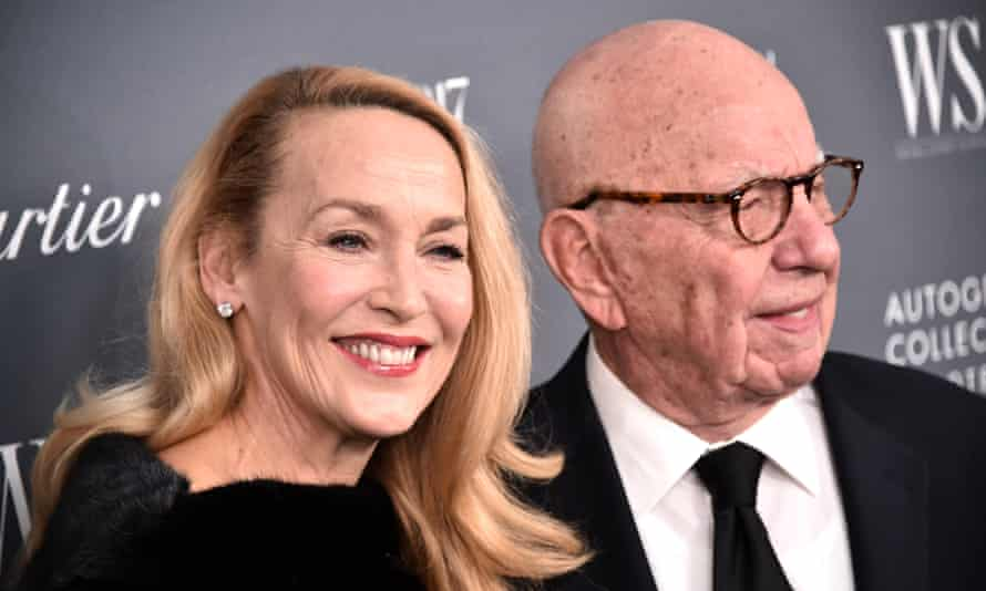 Rupert Murdoch and his wife, Jerry Hall