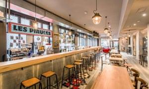 Bar area in Les Piaules, Paris