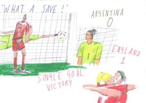 Argentina v England by Hannah Buckman.