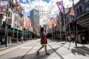 A woman shops in Melbourne's CBD on Saturday.