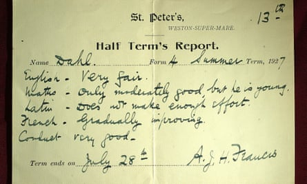 The half term report for author Roald Dahl says his work in English is 'very fair'. Teachers and parents say there needs to be more time for reports to be written in detail.