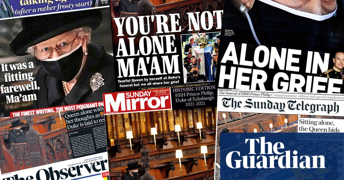 'Alone in her grief': mourning monarch is a picture of loneliness for UK papers