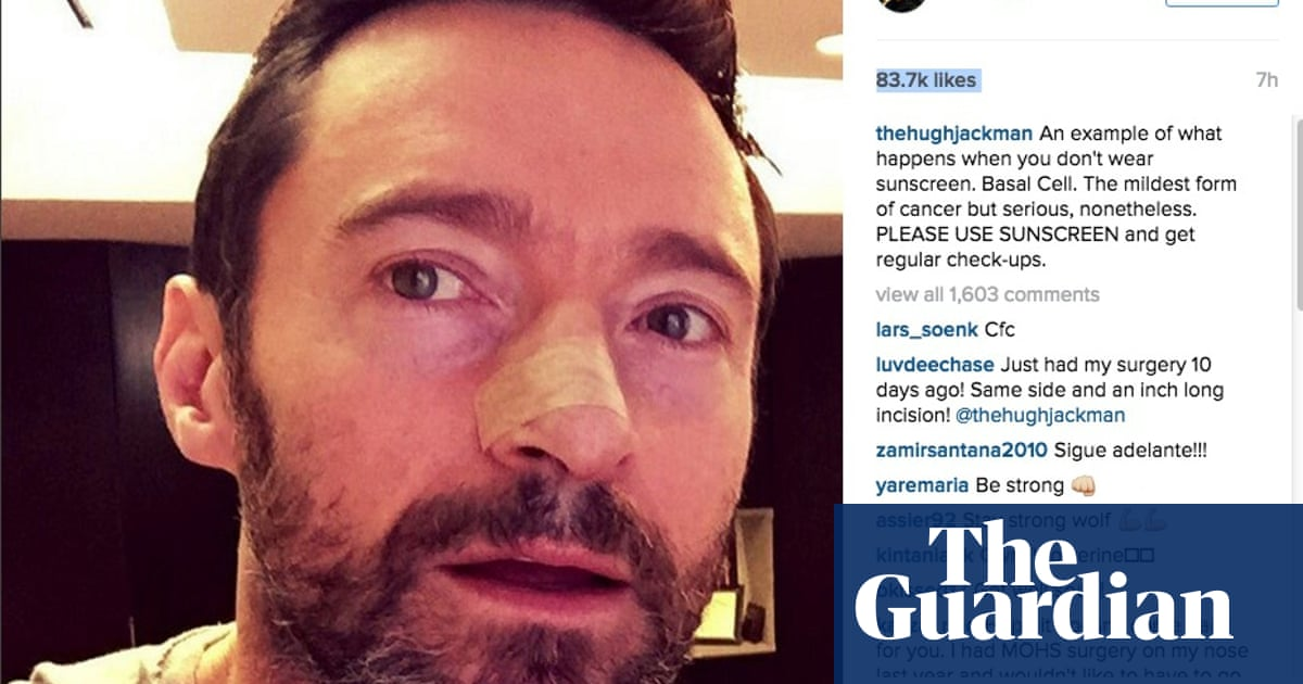 Hugh Jackman Posts Sun Safety Appeal After Getting Skin Cancer Removed Film The Guardian