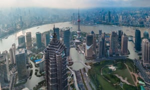 How Shanghai would look with a rise of just 2C: the UN warned this week of a potential 3C scenario.