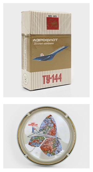 The airline produced a variety of souvenir items including a cigarette pack produced to commemorate Aeroflot's 50th anniversary in 1973, and an ashtray from the 1970s