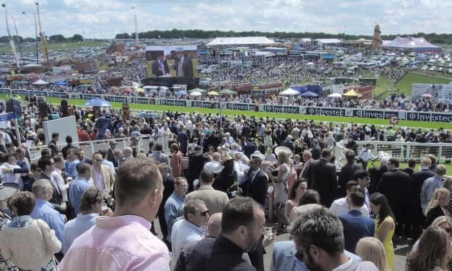 A general view of Derby day at Epsom with the area to be rebranded 'Poundland Hill' at the far side of the track.