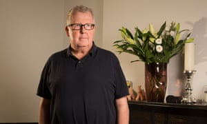 'Cancer is … just like the rest of life! : Steve Hewlett at his home in Clapham, London, this month.