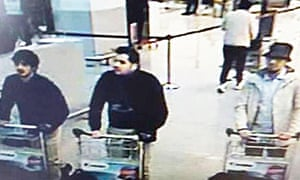 CCTV of three suspects wheeling baggage trolleys