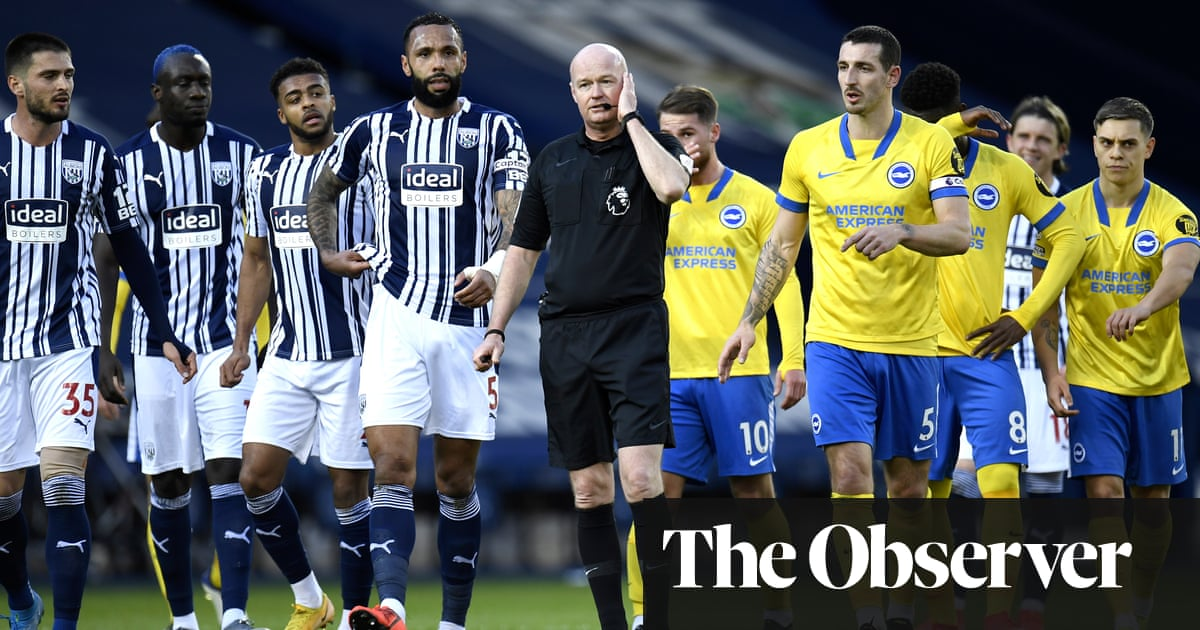 Brighton miss two penalties in West Brom defeat amid VAR free-kick chaos