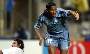 Didier Drogba, a former client of Pape Diouf, in action for Marseille in 2004.