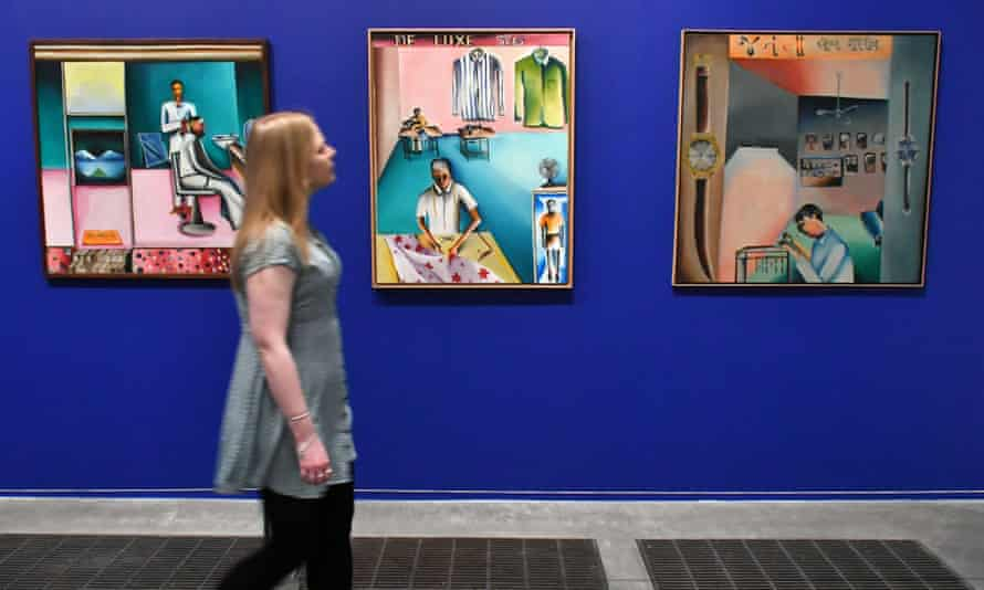 paintings by bhupen khakhar at tate modern london