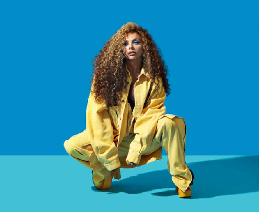 Jesy Nelson wearing a yellow jacket and trousers: Guy O'Sport, from Ninetyfly. Shoes: Vivienne Westwood x Melissa, from Archivesix Studio. Rings: Swarovski, Mi Manera Jewelry, Acchitto. Styling by Toni-Blaze Ibekwe. Photographer's assistants: Melinda Davies; Z Perou. Hair: Christopher Southern using GHD. Makeup: Heidi North at The Wall Group using Nars.