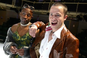 Clarence Smith and Oliver Milburn in Noël Coward's Design for Living, directed by Marianne Elliott in 2002.