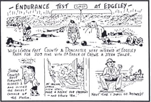A cartoon about the match between Stockport and Doncaster.