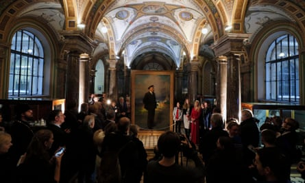 An exhibition of a unique dual canvas with a portrait of Tsar Nicholas II on one side and Lenin on the other in in St Petersburg last month.