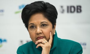 The 64-year-old Nooyi has been with PepsiCo Inc for 24 years.