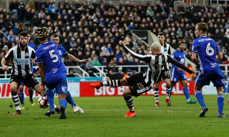 Jonjo Shelvey inspires Newcastle to FA Cup replay victory over Birmingham