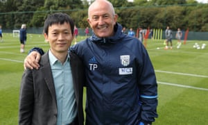 Guochuan Lai meets Tony Pulis the West Brom manager