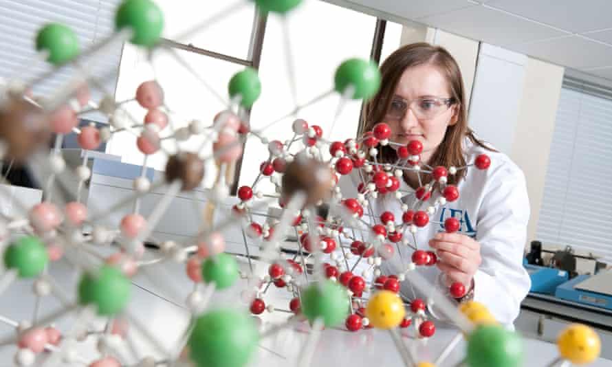 female laboratory technician in lab