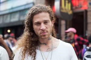 Rapper Micky Munday from Los Angeles came down to Austin to perform during SXSW. This is his third time at the festival.