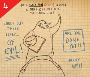 Evil penguin step 4