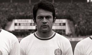 Georgi Asparuhov lines up for Bulgaria's World Cup qualifier against the Netherlands in October 1968 at the Vasiliy Levski stadium in Sofia.