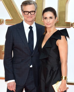 Livia Firth with husband Colin Firth at the Kingsman: the Golden Circle world premiere in 2017.
