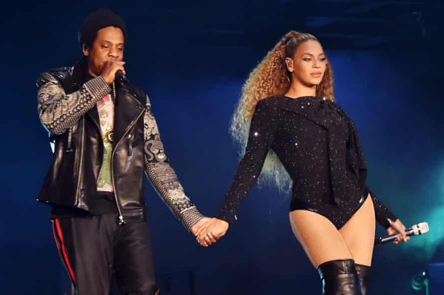 Beyonce and Jay-Z in Cardiff.