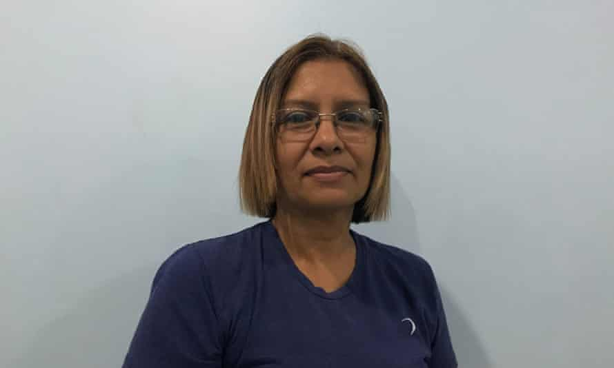 Carmen Padilla, a haemodialysis patient and campaigner for chronic patients in Barquisimeto.