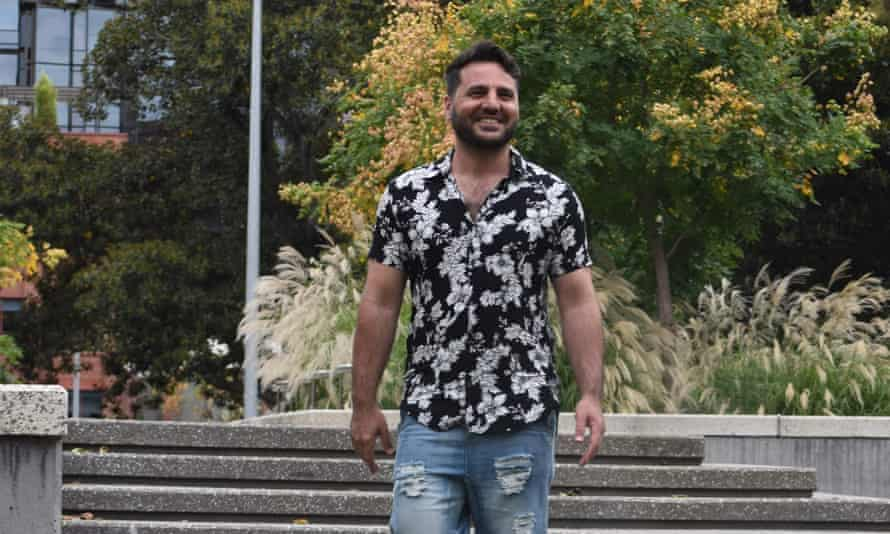 Refugee and writer Mardin Arvin in Melbourne after his release from hotel detention