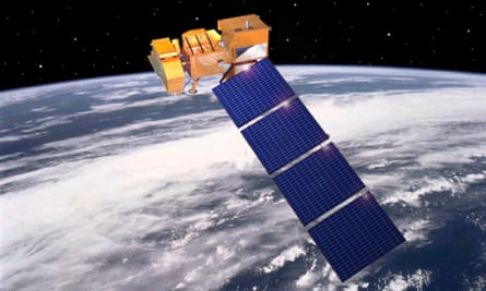 A rendering of Nasa Landsat 7.