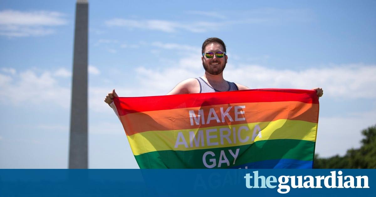 76a3bf13dfa usatoday.com Anti-Trump sentiment permeates LGBT Pride marches across US
