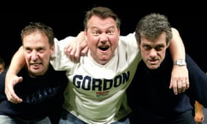 Martin Barrass, Iain Rogerson and Robert Angell rehearse for John Godber's Up'n'Under at the Hull Truck theatre.