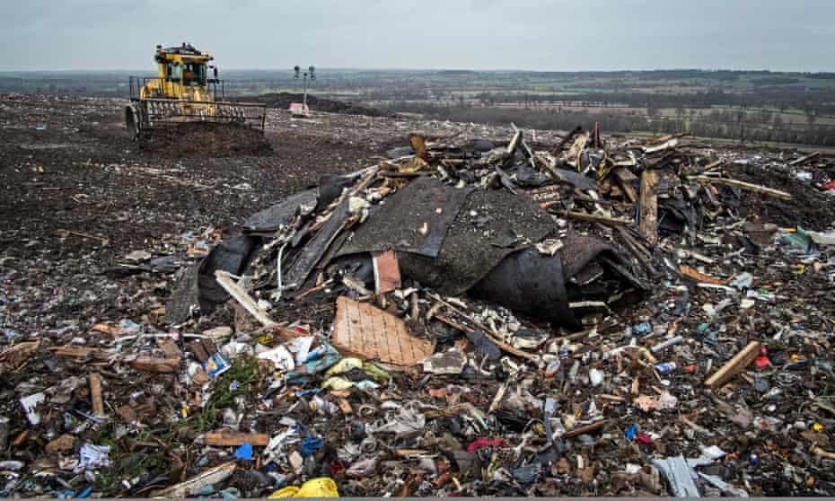Packington landfill, near Birmingham.