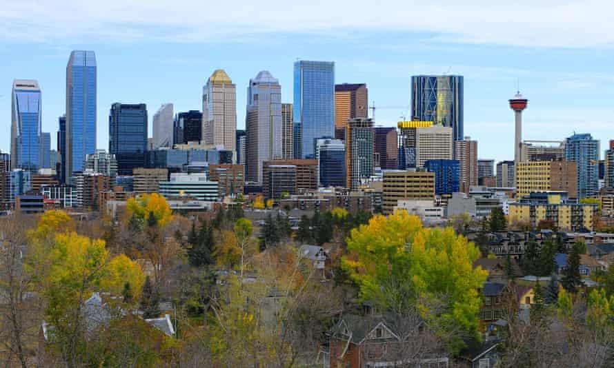 Calgary, the capital of Alberta