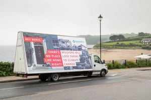 A van promotes the ShelterBox 'Human habitat loss' campaign in Falmouth