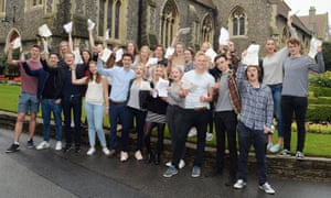 A-level results students